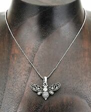 Spirit of Productivity and Power Antique or Vintage Style Bumble Bee Necklace