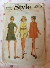 VTG 60s Style Sewing Pattern A Line Dress Front Fastening Size 38 Bust 42