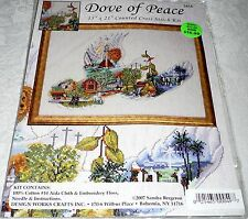 "Design Works Counted Cross Stitch Kit DOVE OF PEACE 15"" x 21"""