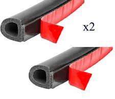 Edging trim D strip car body profile door foam self adhesive seal rubber sml X2