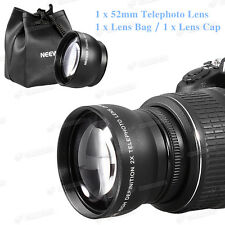 52mm 2x 2.0x tele TelePhoto Converter lens for Nikon D3200 with AF-S DX 18-55mm
