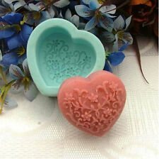 Flower Heart Soap Mould Flexible Silicone Cookie Mold Chocolate Mould R0226