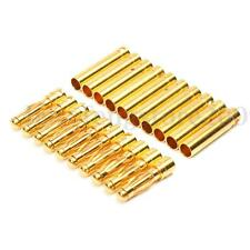10 Pairs 4mm Gold-plated Bullet Banana Connector Plug Male Female for RC Battery