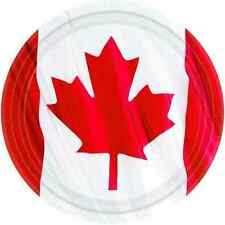 "Waving Canadian Flag Maple Leaf Canada Day Patriotic Party 9"" Dinner Plates"
