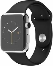 Apple Watch 42mm Silver Face stainless Steel With Black Sport Band
