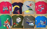 BOYS NEW EX MINI BODEN APPLIQUÉ TOP TSHIRT 18-24 2 3 4 5 6 7 8 9 10 11 12 YRS