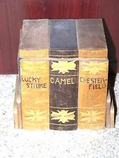 Antique Wooden Cigarette Dispenser Lucky Strike Chesterfield Camel Made in Japan