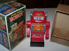 """ROBOT 10"""" BATTERY OPERATED SPACE TOY in Original BOX MADE IN JAPAN"""