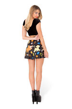 HAKUNA MATATA LION KING SIMBA TIMON PUMBA Digital Print Milk Black SKATER SKIRT