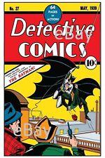 DETECTIVE COMICS 27 COVER PRINT DC 1st App of Batman