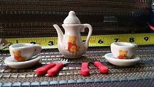 10 Pcs Mini Porcelain Tea Set For Children Ages 8+