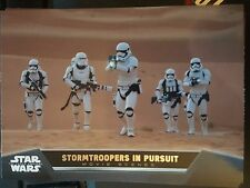2015 Topps Star Wars The Force Awakens Movie Scenes #6 Stormtroopers in Pursuit
