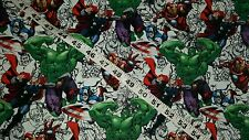 Comic fabric Hulk Captain America Iron Man cotton quilt sewing material BTY kids