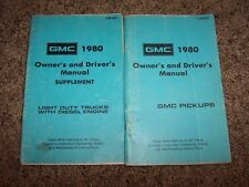 1980 GMC Pick Up Owner Owner's User Guide Operator Manual 5.3L 5.7L V8