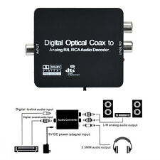 Optical Coaxial Digital to Analog Audio Converter Adapter 3.5mm Support Dolby