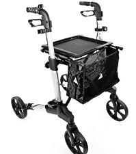 Rollator klappbar Alu Ankipphilfe Sitzfläche 2xHandbremse -150kg Feststellbremse