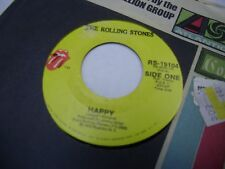Rolling Stones Happy/All Down The Line 45 RPM 1972 Stones Records VG+