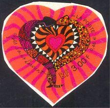 France 2000 Valentine's Day/Heart/Snakes/Love/Yves St Laurent/YSL 1v s/a n43712