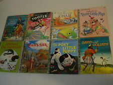 8 Classic a Little Golden Books Paul Revere Tootle Jonah Noah's Ark Poky 3 pigs+