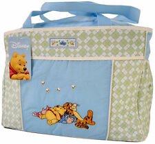Disney Winnie The Pooh Blue Green Baby Diaper Tote Bag NEW
