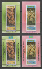 Philippine Stamps 1993 Philippine Orchids souvenir sheets with ovpt. MNH