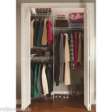 WHITE ClosetMaid 5-Foot Shelf and Rod Closet Organizing System