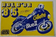 Aufkleber BOL D´OR 1985 Paul Ricard MotoRevue Gillette Sticker Autocollant