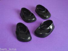 chaussures noires pour poupée Bella / Gégé / Raynal