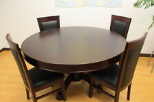 THE MYSTIC ROUND POKER TABLE WITH DINING TOP PLUS 4 CHAIRS