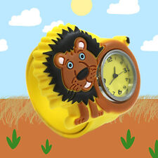 Da bambino POPWATCH Giallo Leone Zoo Animale Slap Orologio Bottone E