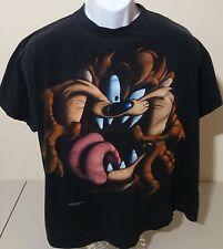 Taz Tasmanian Devil Vintage VTG 90s Jumbo Print Black Graphic T Shirt Mens L