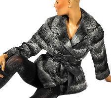 M Pelzjacke Persianer quergestreift grau Breitschwanz persian lamb fur jacket