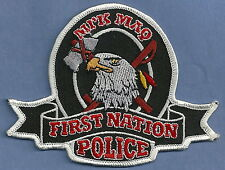 FIRST NATION MI'K MAQ CANADA TRIBAL POLICE PATCH
