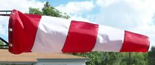 NEW 10x36 Aviation Paraglide Windsock RED & WHITE