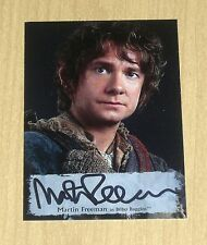 2016 Cryptozoic Hobbit Battle Five Armies poster autograph Martin Freeman MF-P