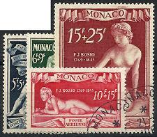 MONACO Poste Aérienne n° 28/31, série BOSIO, oblitérés et TB, cotée 115 € !