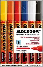 MOLOTOW ONE 4 ALL 227 - 6 PIECE DRAWING MARKER PEN SET - BASIC SET 1