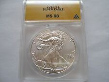 2013 silver eagle , ANACS , MS 68 , Lot of 2