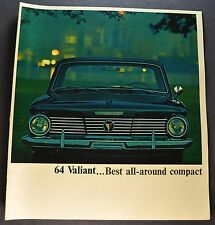 1964 Plymouth Valiant Brochure Signet 200 V-100 Wagon Excellent Original 64