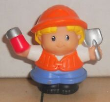 Fisher Price Current Little People Construction Worker Holding Shovel FPLP