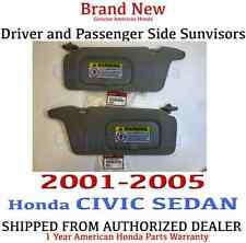 2001- 2005 Honda CIVIC SEDAN Sunvisor SET (CLEAR GRAY) Genuine Factory OEM