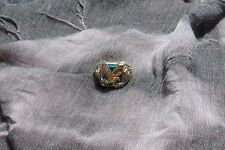 Black Hills Gold Eagle Turquoise Men's Ring  Size 11.5  Stunning Great Ring