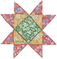 Red Green Material Quilting Quilt Like Decals 25 Wallies Wall Sticker Wood Glass