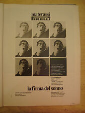PUBBLICITA' ADVERTISING WERBUNG 1975 MATERASSI PIRELLI (AM17)