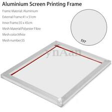 A3 Screen Printing Aluminium Frame Stretched With White 55T Silk Print Mesh