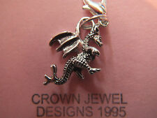 HANDMADE,TIBETAN SILVER DRAGON CHARM,BRACELET,BAG,CHAIN,GAME OF THRONES,PUFF