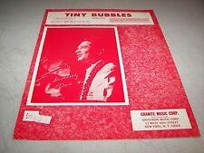 TINY BUBBLES (HUA LI'L) SHEET MUSIC LEON POBER