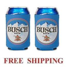 BUSCH BEER 2  12oz CAN COOLERS COOZIE COOLIE KOOZIE HUGGIE BUD NEW