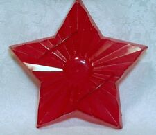 Vintage Aunt Chick's Red Plastic Cookie Cutter Mold - Five Point Star Christmas