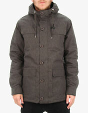 Globe Men's Hooded Jacket Goodstock Parka Charcoal Size L NWT Snow Ski Rain